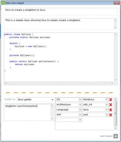 Snip2Code Plugin for Eclipse 2.0.0 screenshot