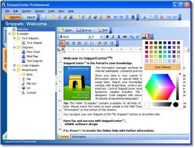 SnippetCenter Professional 2.1.0.60 screenshot