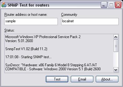 SNMPTest 1.8 screenshot