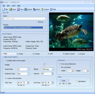 Snosh 2.3 screenshot