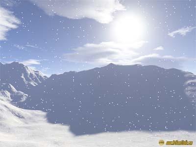 Snowfall Screensaver 1 screenshot