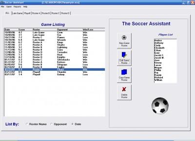 Soccer Roster Organizer 1.2.1 screenshot