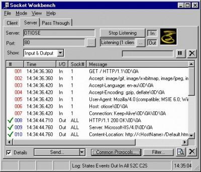 Socket Workbench 3.1 screenshot