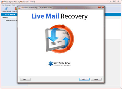 SoftAmbulance Live Mail Recovery 5.53 screenshot