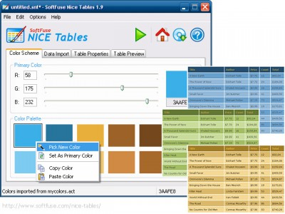 SoftFuse Nice Tables 1.9.6 screenshot