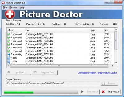 SoftOrbits Jpeg Repair 2.0 screenshot