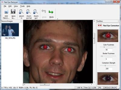 SoftOrbits Red Eye Remover 1.2.34 screenshot