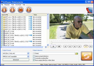SoftPepper VideoConverter 1.2 screenshot