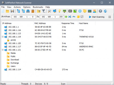 SoftPerfect Network Scanner 7.1.9 screenshot