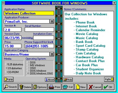 Software Book 5.1 screenshot