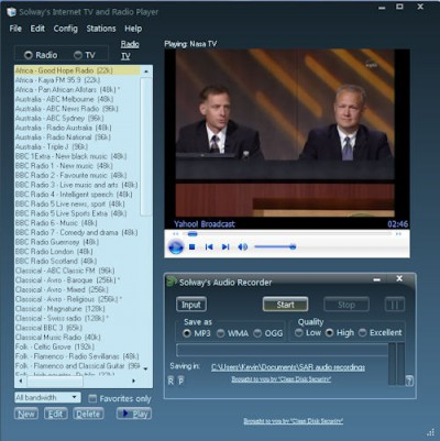 Solway's Internet TV and Radio 2.0 screenshot