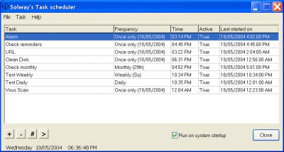 Solway's Task Scheduler 1.8 screenshot