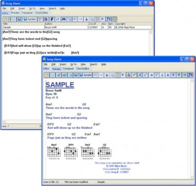 Song Sheet 4.2 4 screenshot