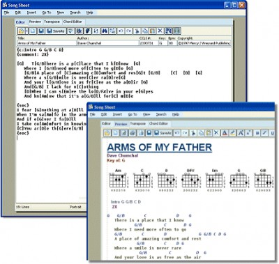 Song Sheet 5 screenshot