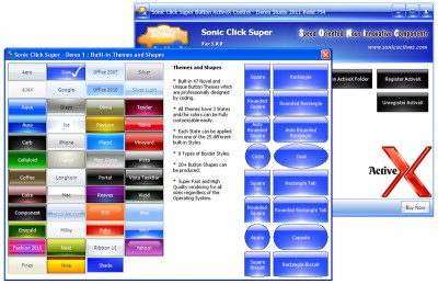 Sonic Click Super Button ActiveX Control 5.0.0 screenshot