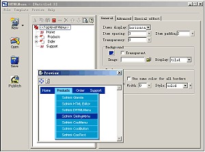 Sothink DHTML Menu Builder Free Version 3.7 screenshot