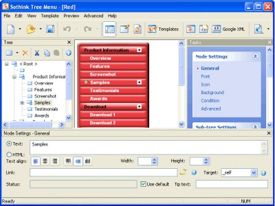 Sothink Tree Menu 2.9 screenshot