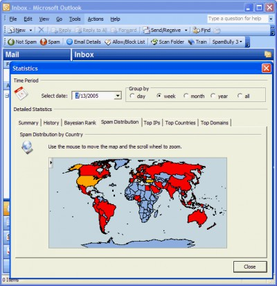 Spam Bully 3 for Outlook 3.0.0.16 screenshot