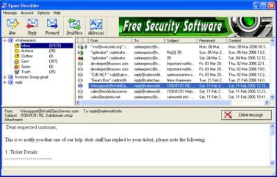 SPAM Shredder 3.1 screenshot