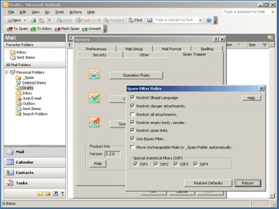 Spam Trapper for Outlook 1.3.3 screenshot