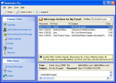 SpamEater Pro 4.1.0 beta screenshot