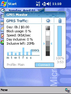 Spb GPRS Monitor  screenshot
