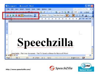 SpeechZilla 1.0 screenshot