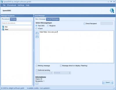 SpeedSMS 2.0 screenshot