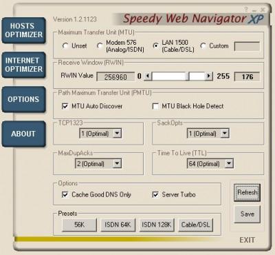 Speedy Web Navigator XP 2.1 screenshot