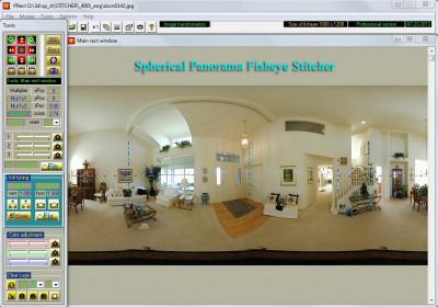 Spherical Panorama Fisheye Stitcher 5.05 screenshot
