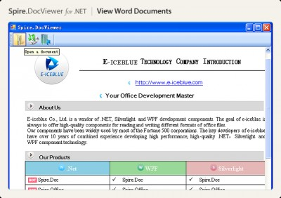 Spire.DocViewer for .NET 1.7 screenshot