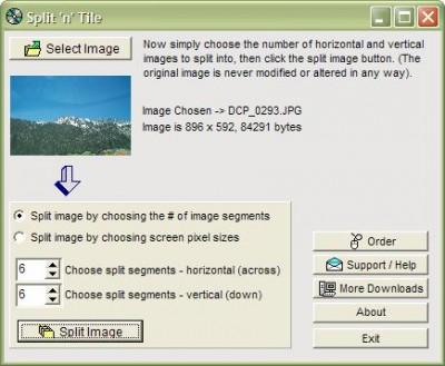 Split and Tile Image Splitter 2.11c screenshot
