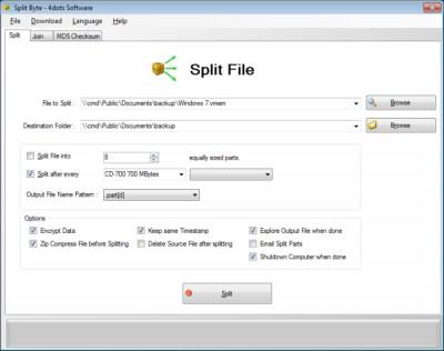 Split Byte 2.2 screenshot