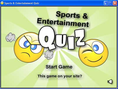Sports and Entertainment Quiz 1.0 screenshot