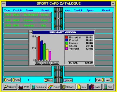 Sports Card Catalog 5.1 screenshot