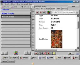 Sports Card Organizer Deluxe 4.11 screenshot