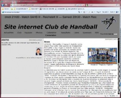 SportWebsite 2018 screenshot