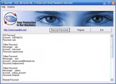 SpotIM Messenger Password Recovery 2.2 screenshot