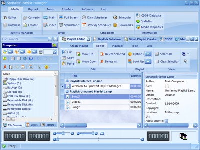 Sprintbit Playlist Manager 7.6 screenshot