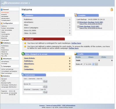 SPSS Sponsor System 3 3 screenshot
