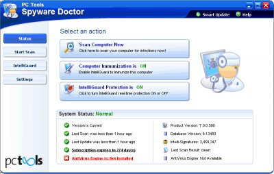Spyware Doctor 8.0 screenshot