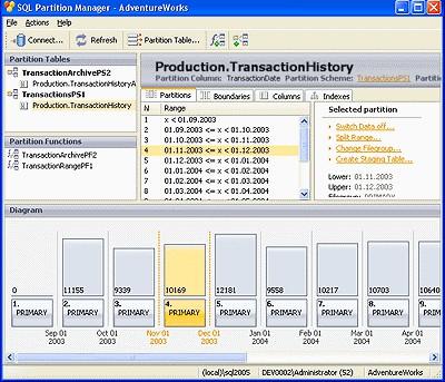 SQL Partition Manager 2.0.16 screenshot