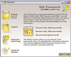 SQL Password 1.5.457 screenshot