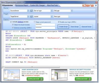 SQL Permissions Extractor 3.0 screenshot