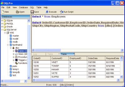 SQLPro 2.2 screenshot