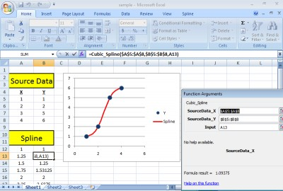 SRS1 Cubic Spline for Excel 2.51 screenshot