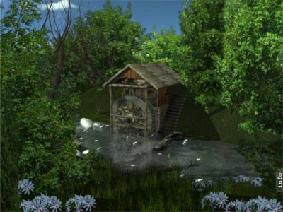 SS Water Mill - Animated Desktop Screensaver 3.1 screenshot
