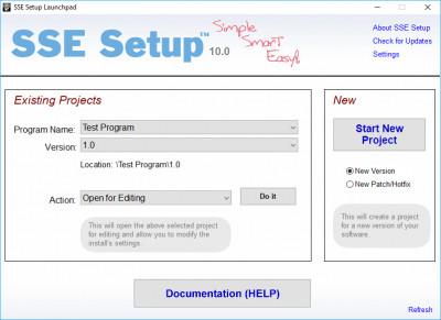 SSE Setup 10.0 screenshot