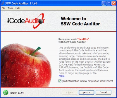 SSW Code Auditor 12.50 screenshot