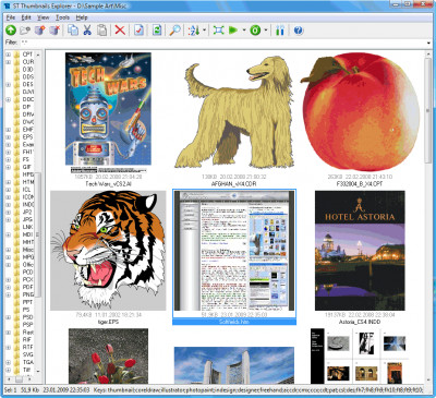 ST Thumbnails Explorer 1.2.3600 screenshot
